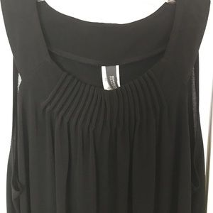 Kenneth Cole Reaction Black Ruched Tank Dress